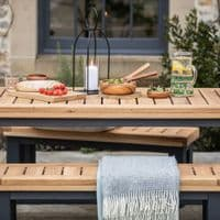 Wylam Outdoor Dining Table And Benches | Outdoor